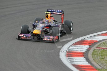 World © Octane Photographic Ltd. F1 German GP - Nurburgring. Friday 5th July 2013 - Practice One. Infiniti Red Bull Racing RB9 - Mark Webber. Digital Ref : 0739lw1d3524