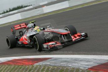 World © Octane Photographic Ltd. F1 German GP - Nurburgring. Friday 5th July 2013 - Practice Two. Vodafone McLaren Mercedes MP4/28 - Sergio Perez . Digital Ref : 0741lw1d4591