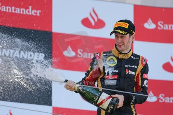 World © Octane Photographic Ltd. F1 German GP - Nurburgring. Sunday 7th July 2013 - Podium. Lotus F1 Team - Romain Grosjean. Digital Ref : 0750au8i0519