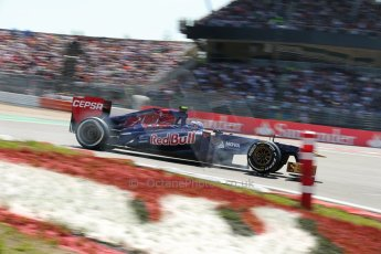 World © Octane Photographic Ltd. F1 German GP - Nurburgring. Sunday 7th July 2013 - Race. Scuderia Toro Rosso STR 8 - Daniel Ricciardo. Digital Ref : 0749lw1dx0078