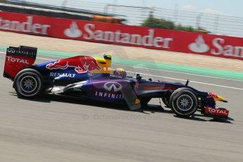 World © Octane Photographic Ltd. F1 German GP - Nurburgring. Sunday 7th July 2013 - Race. Infiniti Red Bull Racing RB9 - Mark Webber. Digital Ref : 0749lw1dx0090