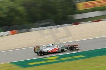 World © Octane Photographic Ltd. F1 German GP - Nurburgring. Saturday 6th July 2013 - Practice three. Vodafone McLaren Mercedes MP4/28 - Sergio Perez . Digital Ref : 0744lw1d4212