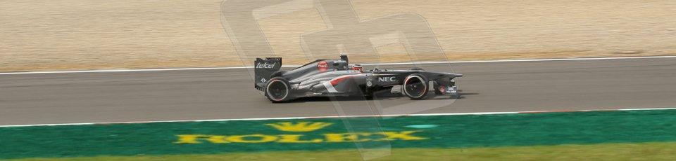 World © Octane Photographic Ltd. F1 German GP - Nurburgring. Saturday 6th July 2013 - Practice three. Sauber C32 - Nico Hulkenberg. Digital Ref : 0744lw1d4239