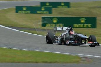 World © Octane Photographic Ltd. F1 German GP - Nurburgring. Saturday 6th July 2013 - Practice three. Sauber C32 - Nico Hulkenberg. Digital Ref : 0744lw1d6158