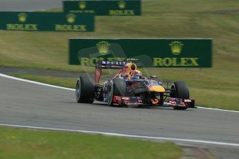 World © Octane Photographic Ltd. F1 German GP - Nurburgring. Saturday 6th July 2013 - Practice three. Infiniti Red Bull Racing RB9 - Mark Webber. Digital Ref : 0744lw1d6176