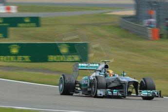 World © Octane Photographic Ltd. F1 German GP - Nurburgring. Saturday 6th July 2013 - Practice three. Mercedes AMG Petronas F1 W04 – Lewis Hamilton. Digital Ref : 0744lw1d6215