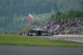 World © Octane Photographic Ltd. F1 German GP - Nurburgring. Saturday 6th July 2013 - Practice three. Mercedes AMG Petronas F1 W04 – Lewis Hamilton. Digital Ref : 0744lw1d6660