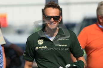 World © Octane Photographic Ltd. F1 German GP - Nurburgring, Sunday 7th July 2013 - Paddock. Caterham F1 Team - Giedo van der Garde. Digital Ref : 0748lw1d7980