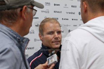 World © Octane Photographic Ltd. F1 German GP - Nurburgring. Thursday 4th July 2013 - Paddock. Williams FW35 - Valtteri Bottas being interviewed. Digital Ref : 0737lw1d2997