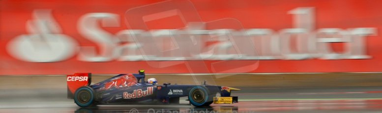 World © Octane Photographic Ltd. F1 British GP - Silverstone, Friday 28th June 2013 - Practice 1. Scuderia Toro Rosso STR 8 - Daniel Ricciardo. Digital Ref : 0724ce1d6446
