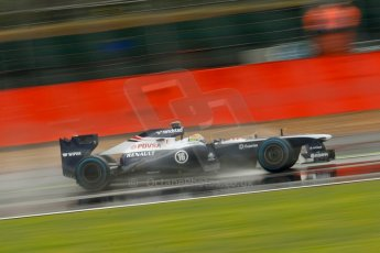 World © Octane Photographic Ltd. F1 British GP - Silverstone, Friday 28th June 2013 - Practice 1. Williams FW35 - Pastor Maldonado. Digital Ref : 0724ce1d6459