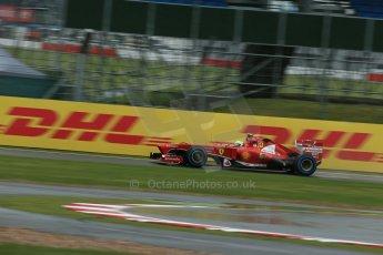 World © Octane Photographic Ltd. F1 British GP - Silverstone, Friday 28th June 2013 - Practice 1. Scuderia Ferrari F138 - Felipe Massa. Digital Ref : 0724lw1d0436