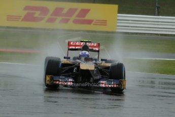 World © Octane Photographic Ltd. F1 British GP - Silverstone, Friday 28th June 2013 - Practice 1. Scuderia Toro Rosso STR 8 - Daniel Ricciardo. Digital Ref : 0724lw1d0549