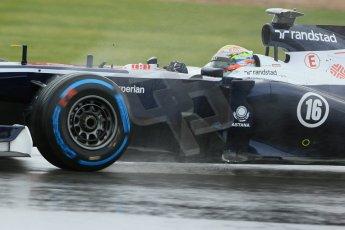 World © Octane Photographic Ltd. F1 British GP - Silverstone, Friday 28th June 2013 - Practice 1. Williams FW35 - Pastor Maldonado. Digital Ref : 0724lw1d0923
