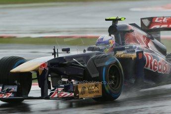 World © Octane Photographic Ltd. F1 British GP - Silverstone, Friday 28th June 2013 - Practice 1. Scuderia Toro Rosso STR 8 - Daniel Ricciardo. Digital Ref : 0724lw1d0958