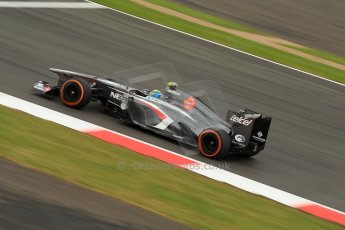 World © Octane Photographic Ltd. F1 British GP - Silverstone, Friday 28th June 2013 - Practice 2. Sauber C32 - Esteban Gutierrez. Digital Ref : 0726ce1d6926