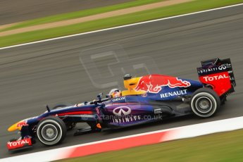 World © Octane Photographic Ltd. F1 British GP - Silverstone, Friday 28th June 2013 - Practice 2. Infiniti Red Bull Racing RB9 - Sebastian Vettel. Digital Ref : 0726ce1d7102