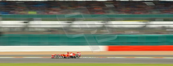 World © Octane Photographic Ltd. F1 British GP - Silverstone, Friday 28th June 2013 - Practice 2. Scuderia Ferrari F138 - Fernando Alonso. Digital Ref : 0726ce1d7126