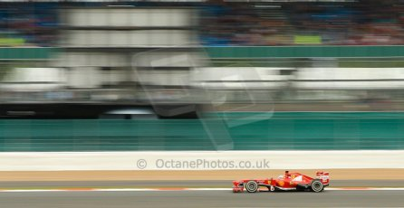 World © Octane Photographic Ltd. F1 British GP - Silverstone, Friday 28th June 2013 - Practice 2. Scuderia Ferrari F138 - Fernando Alonso. Digital Ref : 0726ce1d7127