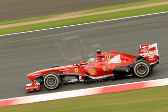 World © Octane Photographic Ltd. F1 British GP - Silverstone, Friday 28th June 2013 - Practice 2. Scuderia Ferrari F138 - Fernando Alonso. Digital Ref : 0726ce1d7180