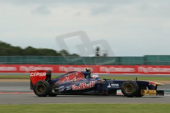 World © Octane Photographic Ltd. F1 British GP - Silverstone, Friday 28th June 2013 - Practice 2. Scuderia Toro Rosso STR 8 - Daniel Ricciardo. Digital Ref : 0726lw1d0001