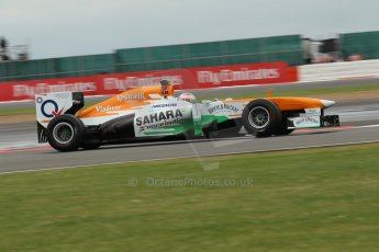 World © Octane Photographic Ltd. F1 British GP - Silverstone, Friday 28th June 2013 - Practice 2. Sahara Force India VJM06 - Paul di Resta. Digital Ref : 0726lw1d0048