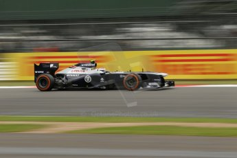 World © Octane Photographic Ltd. F1 British GP - Silverstone, Friday 28th June 2013 - Practice 2. Williams FW35 - Valtteri Bottas. Digital Ref : 0726lw1d0115