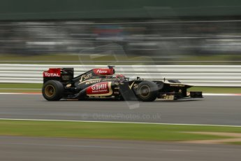 World © Octane Photographic Ltd. F1 British GP - Silverstone, Friday 28th June 2013 - Practice 2. Lotus F1 Team E21 - Kimi Raikkonen. Digital Ref : 0726lw1d0123