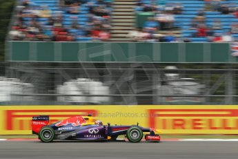 World © Octane Photographic Ltd. F1 British GP - Silverstone, Friday 28th June 2013 - Practice 2. Infiniti Red Bull Racing RB9 - Sebastian Vettel. Digital Ref : 0726lw1d9889