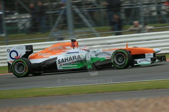 World © Octane Photographic Ltd. F1 British GP - Silverstone, Friday 28th June 2013 - Practice 2. Sahara Force India VJM06 - Paul di Resta. Digital Ref : 0726lw7dx1213