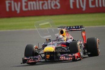 World © Octane Photographic Ltd. F1 British GP - Silverstone, Saturday 29th June 2013 - Practice 3. Infiniti Red Bull Racing RB9 - Sebastian Vettel. Digital Ref : 0729lw1d0572