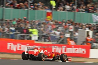World © Octane Photographic Ltd. F1 British GP - Silverstone, Saturday 29th June 2013 - Practice 3. Scuderia Ferrari F138 - Felipe Massa. Digital Ref : 0729lw1d0799