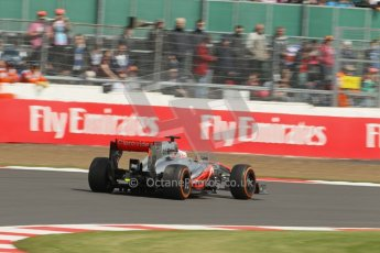 World © Octane Photographic Ltd. F1 British GP - Silverstone, Saturday 29th June 2013 - Practice 3. Vodafone McLaren Mercedes MP4/28 - Jenson Button. Digital Ref : 0729lw1d0803