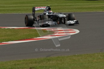 World © Octane Photographic Ltd. F1 British GP - Silverstone, Saturday 29th June 2013 - Practice 3. Williams FW35 - Valtteri Bottas. Digital Ref : 0729lw1d0897