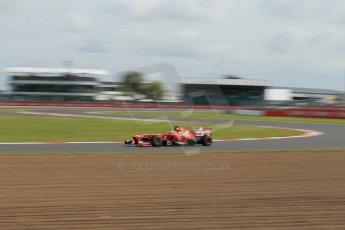 World © Octane Photographic Ltd. F1 British GP - Silverstone, Saturday 29th June 2013 - Practice 3. Scuderia Ferrari F138 - Fernando Alonso. Digital Ref : 0729lw1d1717