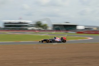 World © Octane Photographic Ltd. F1 British GP - Silverstone, Saturday 29th June 2013 - Practice 3. Scuderia Toro Rosso STR 8 - Daniel Ricciardo. Digital Ref : 0729lw1d1723