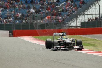 World © Octane Photographic Ltd. F1 British GP - Silverstone, Saturday 29th June 2013 - Qualifying. Sauber C32 - Esteban Gutierrez. Digital Ref : 0730lw1d1199