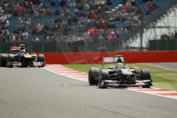 World © Octane Photographic Ltd. F1 British GP - Silverstone, Saturday 29th June 2013 - Qualifying. Sauber C32 - Esteban Gutierrez. Digital Ref : 0730lw1d1247