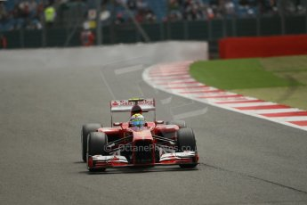 World © Octane Photographic Ltd. F1 British GP - Silverstone, Saturday 29th June 2013 - Qualifying. Scuderia Ferrari F138 - Felipe Massa. Digital Ref : 0730lw1d1304