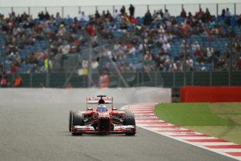 World © Octane Photographic Ltd. F1 British GP - Silverstone, Saturday 29th June 2013 - Qualifying. Scuderia Ferrari F138 - Fernando Alonso. Digital Ref : 0730lw1d1396