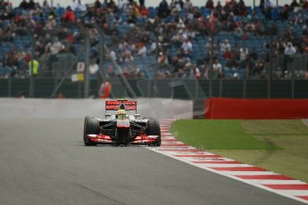 World © Octane Photographic Ltd. F1 British GP - Silverstone, Saturday 29th June 2013 - Qualifying. Vodafone McLaren Mercedes MP4/28 - Sergio Perez . Digital Ref : 0730lw1d1405