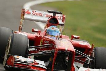 World © Octane Photographic Ltd. F1 British GP - Silverstone, Saturday 29th June 2013 - Qualifying. Scuderia Ferrari F138 - Fernando Alonso. Digital Ref : 0730lw1d1563
