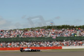 World © Octane Photographic Ltd. F1 British GP - Silverstone, Sunday 30th June 2013 - Race. Williams FW35 - Pastor Maldonado. Digital Ref : 0734lw1d2162