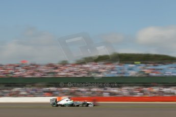 World © Octane Photographic Ltd. F1 British GP - Silverstone, Sunday 30th June 2013 - Race. Mercedes AMG Petronas F1 W04 - Nico Rosberg. Digital Ref : 0734lw1d2200