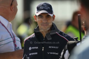 World © Octane Photographic Ltd. F1 British GP - Silverstone, Sunday 30th June 2013 – F1 Paddock. Pastor Maldonado - Williams. Digital Ref : 0733lw1d1627