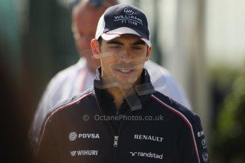 World © Octane Photographic Ltd. F1 British GP - Silverstone, Sunday 30th June 2013 – F1 Paddock. Pastor Maldonado - Williams. Digital Ref : 0733lw1d1632