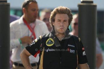 World © Octane Photographic Ltd. F1 British GP - Silverstone, Sunday 30th June 2013 – F1 Paddock. Davide Valsecchi - Lotus F1 Team reserve driver. Digital Ref : 0733lw1d1652