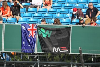 World © Octane Photographic Ltd. F1 British GP - Silverstone, Sunday 30th June 2013 – Atmosphere. Mark Webber fans. Digital Ref : 0733lw1d1704