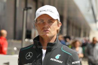 World © Octane Photographic Ltd. F1 British GP - Silverstone, Sunday 30th June 2013 – F1 Paddock. Nico Rosberg - Mercedes AMG Petronas. Digital Ref : 0733lw1d1913