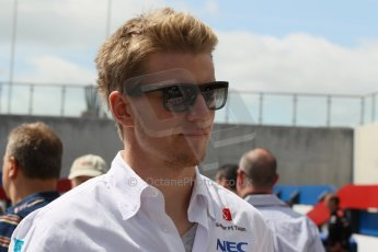 World © Octane Photographic Ltd. F1 British GP - Silverstone, Sunday 30th June 2013 – F1 Paddock. Nico Hulkenberg - Sauber F1 Team. Digital Ref : 0733lw1d1940